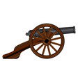 american civil war cannon vector image vector image