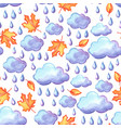 aquarelle seamless pattern with autumn elements vector image vector image