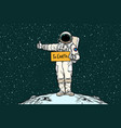 astronaut hitch rides on earth vector image vector image