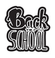 Back To School Lettering vector image vector image
