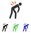 backache flat icon vector image vector image
