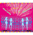 background disco party - drinks entertainment and vector image