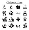 basic christmas icon set vector image vector image