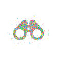 binoculars icon abstract vector image