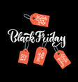 black friday calligraphic advertising poster vector image