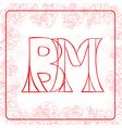 BM monogram vector image
