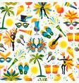 brazilian carnival seamless pattern vector image vector image