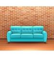 Brick Wall Interior With Sofa Realistic vector image