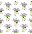 bucket of lavender seamless pattern vector image