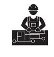 civil engineering black concept icon civil vector image vector image