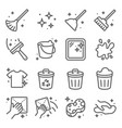 clean icons set contains such vector image vector image