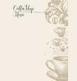 coffee shop menu with cup beans and twig vector image