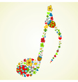 Colorful music texture background vector image vector image