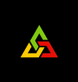 colorful triangle construction logo vector image vector image