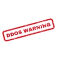 Ddos Warning Text Rubber Stamp vector image vector image