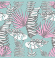 delicate pink and blue seamless pattern vector image vector image