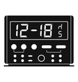 digital clock icon simple style vector image
