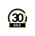 discount card with 30 percent sale advertising vector image vector image