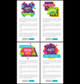 discount only today internet pages templates set vector image