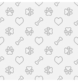 Dog minimal pattern vector image