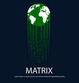 earth with tail in form matrix vector image vector image