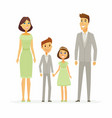 family celebration - cartoon people characters vector image vector image