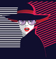 fashion woman in style pop art stylish vector image vector image
