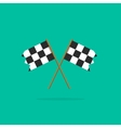 finish flags icon vector image