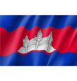 flag of kingdom of cambodia vector image vector image
