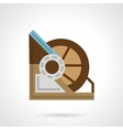 Flat color winch machine icon vector image vector image