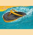 flip flops on sea vector image