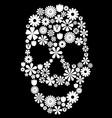 flower skull vector image vector image