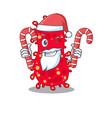 friendly moraxella in santa cartoon character vector image vector image
