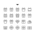 gifts ui pixel perfect well-crafted thin vector image