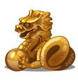 golden figure dragon chinese horoscope symbol vector image vector image