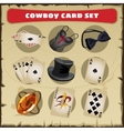 Great set of cowboy vector image
