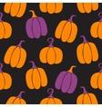 halloween pumpkin seamless pattern vector image vector image