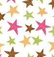 Hand drawn pattern from colorful stars vector image vector image