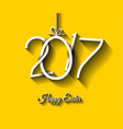 happy 2017 easter modern and elegant background vector image vector image