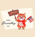 happy groundhog day funny marmot vector image