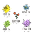 herbal tea logo elements collection organic herbs vector image vector image