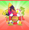 hot summer party banner text vector image