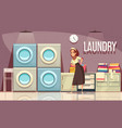 hotel laundry center background vector image