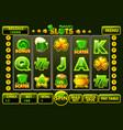 interface slot machine style stpatrick s vector image vector image