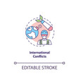 international conflicts concept icon vector image vector image