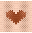Knitted heart seamless pattern vector image