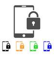 lock smartphone icon vector image