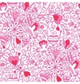 Love flowers seamless pattern background vector image vector image