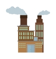 manufacture building pollution chimney vector image
