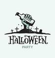 modern professional sign logo halloween vector image vector image